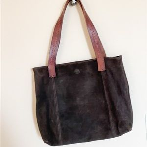 Timberland Brown Suede Tote Bag Purse New